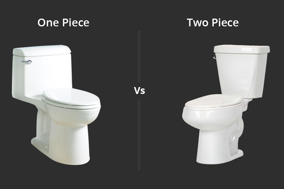 One Piece Vs. Two Piece Toilets Difference