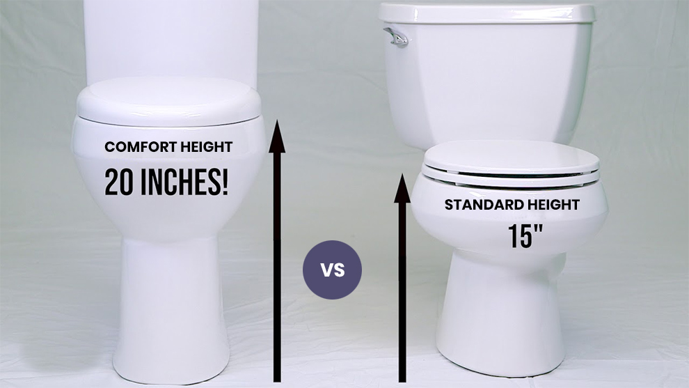 Comfort Height Vs Standard Height Toilet Features
